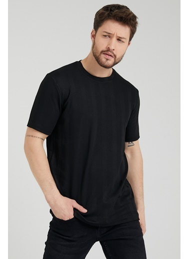 XHAN Siyah Triko T-Shirt 1Kxe1-44797-02 Siyah